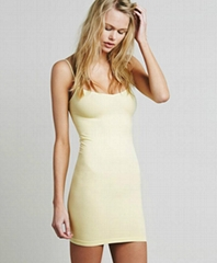 Women's Basic Seamless Camisole Slip Dress