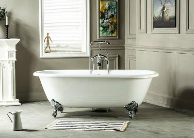 Double Ended Cast Iron Bathtub on Imperial Feet 1