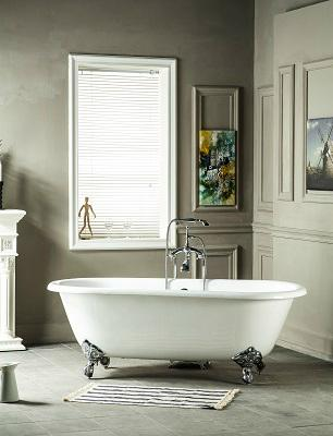 Double Ended Cast Iron Bathtub on Imperial Feet 2