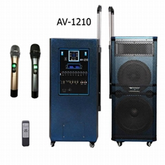 "10""/12"" 3 WAYS PA SPEAKER BULIT-IN BLUE TOOTH WITH 2 WIRELESS MIC"