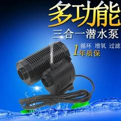 蓝鱼24V三合一鱼缸抽水增氧过滤水泵鱼缸过滤器