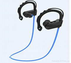Bluetooth Stereo Headphone Powerful Over-Ear MP3 Player + FM Radio For Sporting