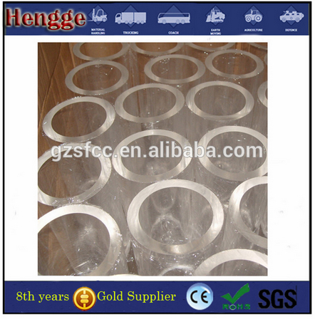 Guangzhou manufacture  color threaded acrylic tube clear acrylic tube 1