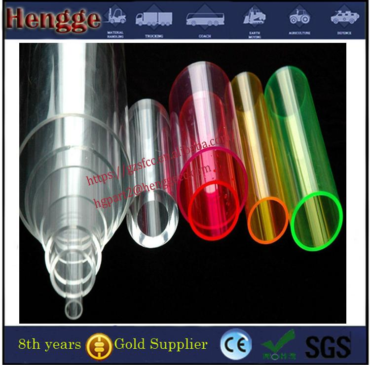 Guangzhou manufacture  color threaded acrylic tube clear acrylic tube 2