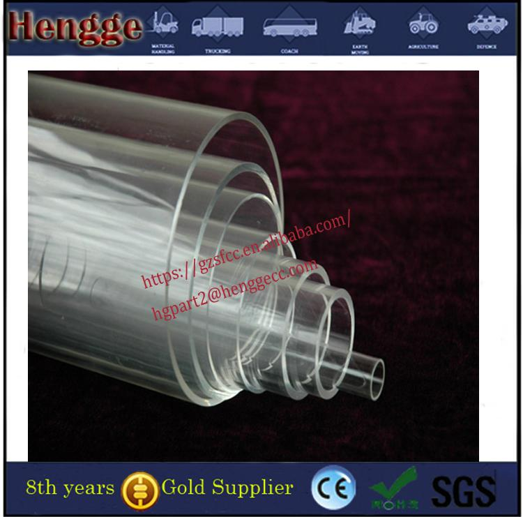 Guangzhou manufacture  color threaded acrylic tube clear acrylic tube 3