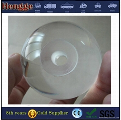 plastic clear acrylic sphere balls UV transparent solid acrylic ball with hole f