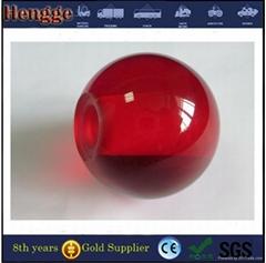 Clear decorative acrylic ball with hole