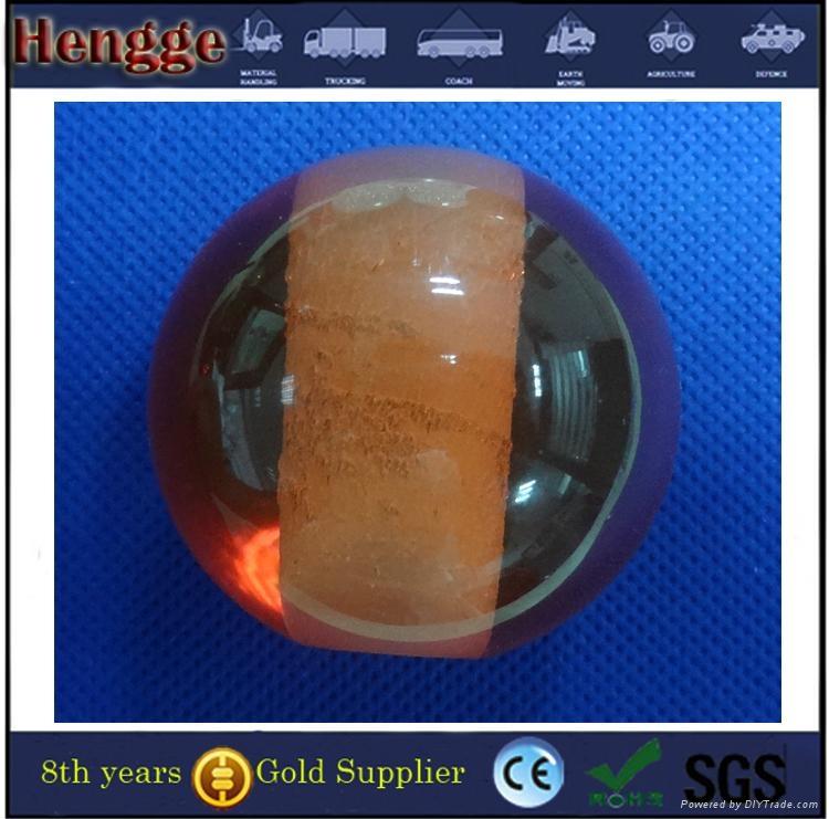 Clear decorative acrylic ball with hole 3