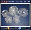 Clear decorative acrylic ball with hole 4