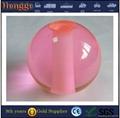 Clear decorative acrylic ball with hole 5