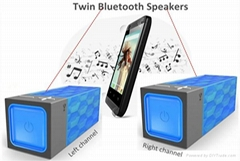Dual Twin True Wireless Stereo Bluetooth Speaker