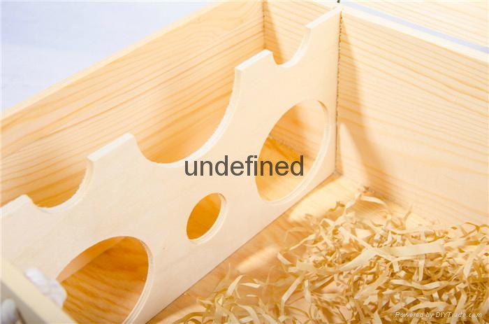 customized natural wood box portable wooden wine box 2