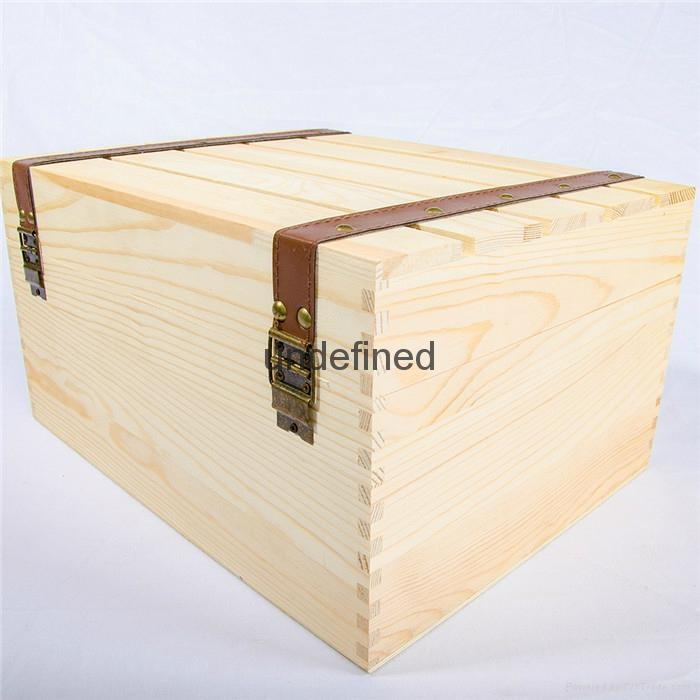 customized natural wood box portable wooden wine box 3