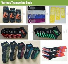 Free Sample New Custom Logo Design Trampoline Socks custom Non Slip Socks