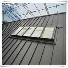 ventilation lighting aluminum alloy skylight window for flat