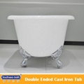 hot sale double ended cast iron bathtub 3