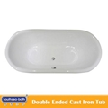 hot sale double ended cast iron bathtub 4