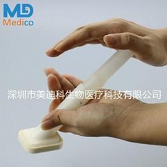 Fixed gluconate skin preparation swab applicator