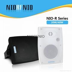 廣州尼羅NIORFNIO 室內壁挂音箱調頻無線音響背景音樂公共廣播系統