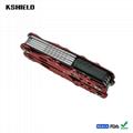 Red Aluminium Handle Stainless Steel Multi Tool Folding Pliers 2