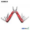 Red Aluminium Handle Stainless Steel Multi Tool Folding Pliers 3