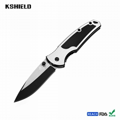 Aluminum Handle Mini Stainless Steel Tactical Foldable Folding Camping Knife for