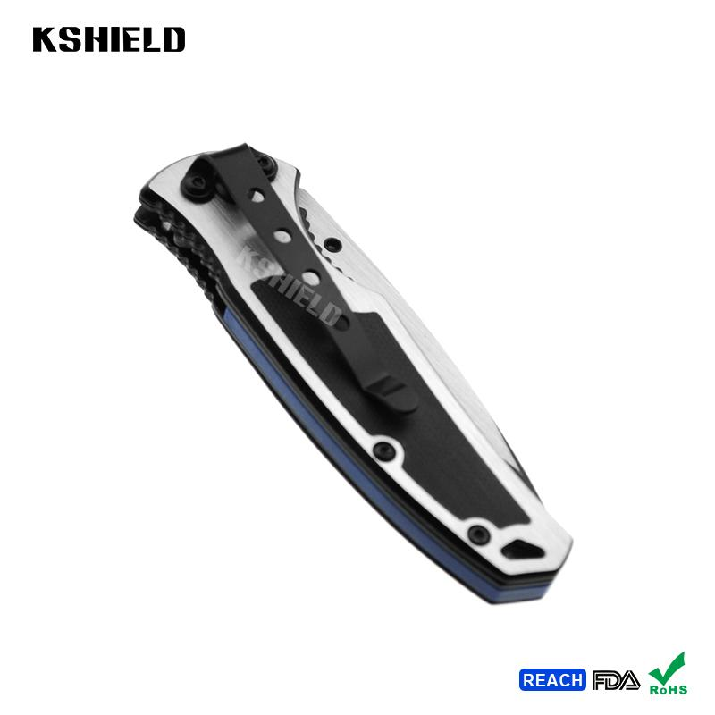Aluminum Handle Mini Stainless Steel Tactical Foldable Folding Camping Knife for 2