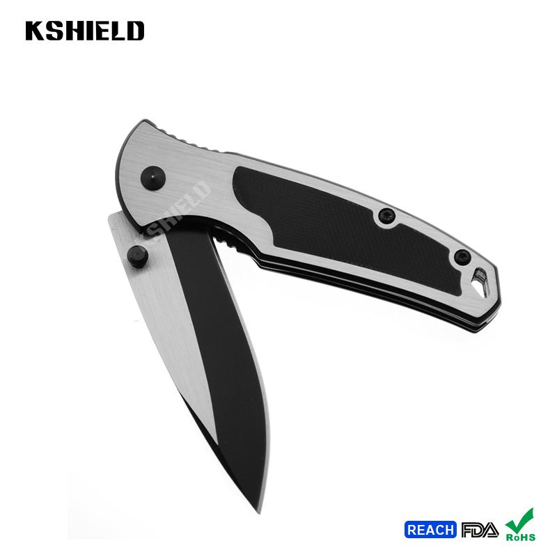 Aluminum Handle Mini Stainless Steel Tactical Foldable Folding Camping Knife for 4