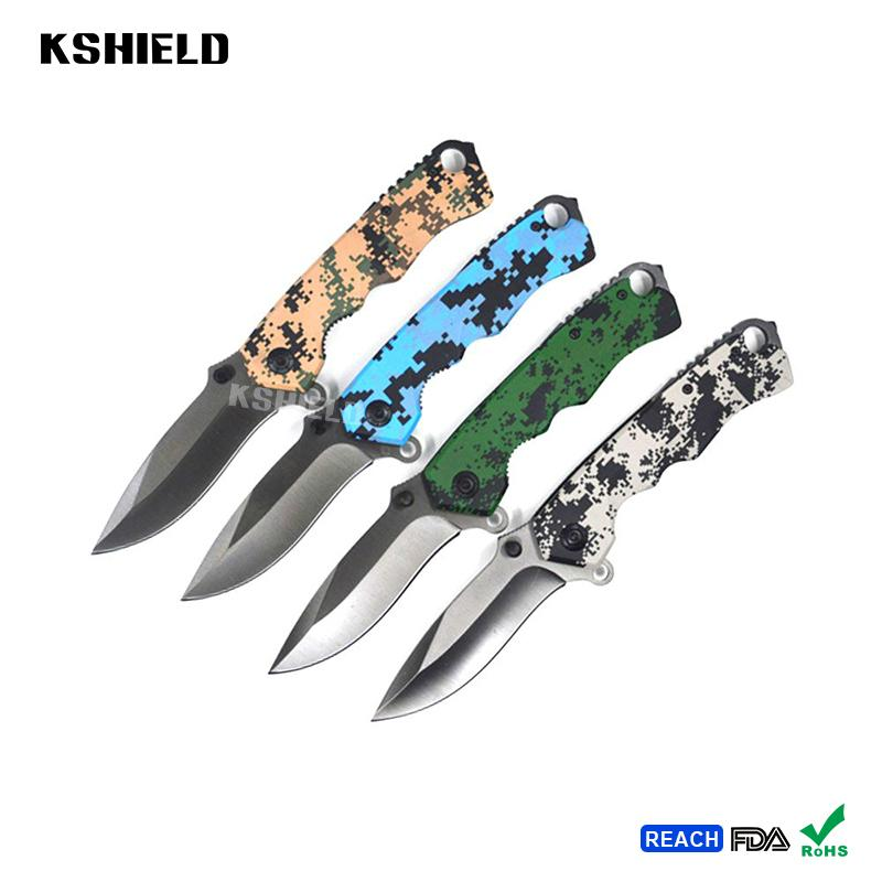 Full Colorful Printing Stainless Steel Folding Pocket Knife with Belt Clip 5