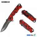 Full Colorful Printing Stainless Steel Folding Pocket Knife with Belt Clip 2