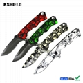 Full Colorful Printing Stainless Steel Folding Pocket Knife with Belt Clip 4