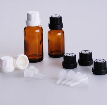 30ml Amber Brown Aromatherapy Glass Bottles, Black Sprayer Atomiser Spray 1