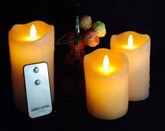 HC-010充电黄灯摇摆蜡烛 LED蜡烛 创意礼品
