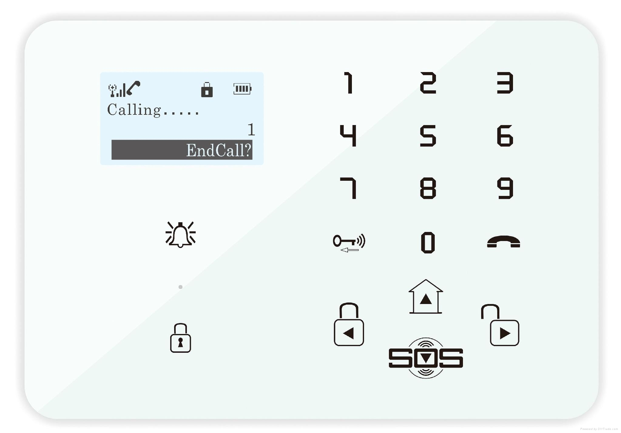 GSM 3G Touch Keypad Alarm System with Dial to Open Gate 2