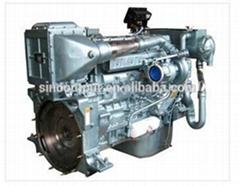 300hp Sinotruk marine diesel engine WD615 for fishing Boat