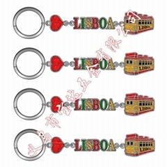 厂家供应葡萄牙公鸡钥匙扣金属里斯本旅游纪念品