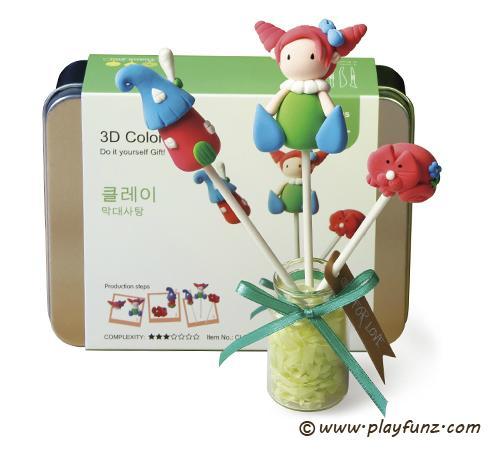 DIY Colorful Plasticine Tool Set 3D Clay-lollypop 2