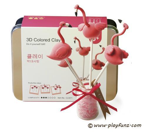 DIY Colorful Plasticine Tool Set 3D Clay-lollypop 1