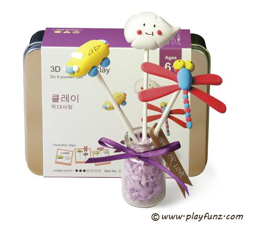 DIY Colorful Plasticine Tool Set 3D Clay-lollypop 3