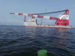 SELL FLOATING CRANE 3800T CRANE BARGE 3800 TON BUY RENT CHARTER SELL SALE 4000T