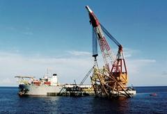rent floating crane 1500t crane barge 1500 ton charter crane ship buy sell sale