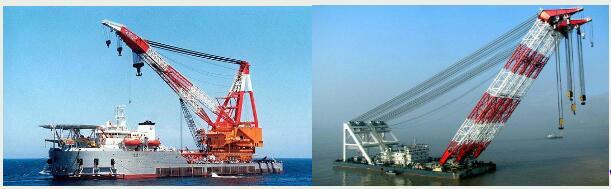 rent floating crane 200t crane barge  300 ton charter crane ship buy sell sale  1