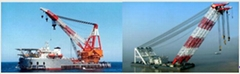 rent floating crane 200t crane barge