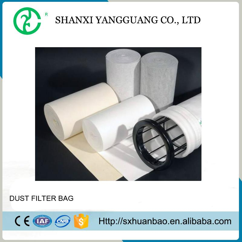 Cement dust collector needle felt polyester industrial filter bag 1