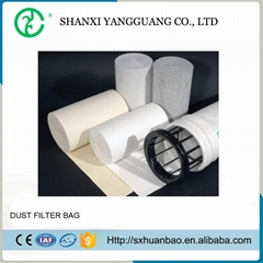 Cement dust collector needle felt polyester industrial filter bag