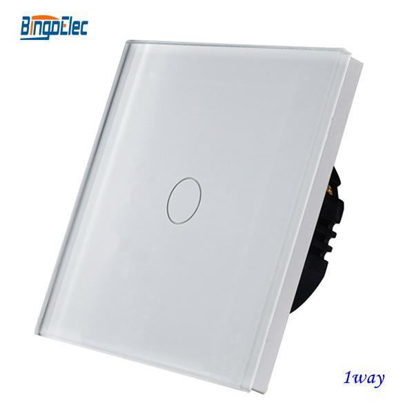 EU/UK standard glass panel touch light wall switch 2