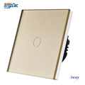 EU/UK standard glass panel touch light wall switch 3