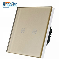 glass panel remote curtain touch switch