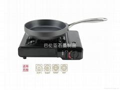 巴倫亞壓製成型不粘無油煙電磁爐通用石墨24CM平底鍋