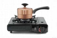 厂家直销Balun不粘无油烟电磁炉通用不粘14CM石墨奶锅